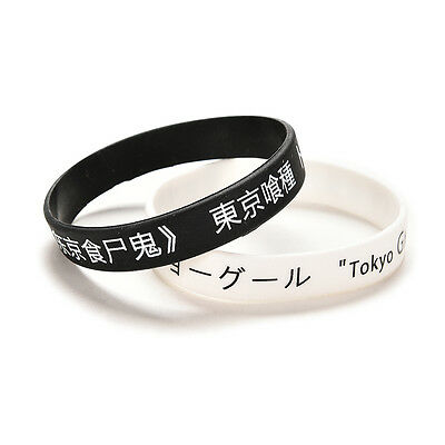 For Anime Tokyo Ghouls Silicon Wristband Black Fan Made Bracelet New BICA