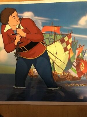 Gulliver's Travels Hand Painted Cel Signed - Numbered -  W/coa