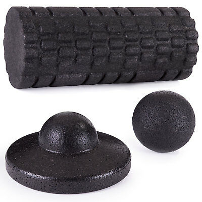 DR. FOAM Textured Foam Roller Massage Tools Set for Fitness Exercise Yoga, 3 pc