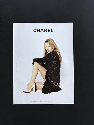 2004 Vintage Print Ad CHANEL Woman's Image Fashion High Heels Photo