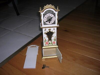 j. ENGSTLER MINIATURE GRANDFATHER CLOCK MADE IN GERMANY/SMALL GRANDFATHER CLOCK