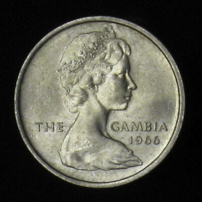 1966 The Gambia Six 6 Pence BU Uncirculated