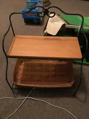 longaberger Basket And Stand