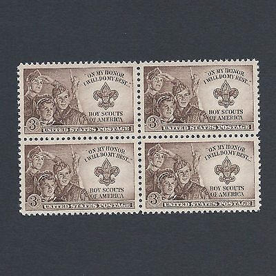 BOY SCOUTS - Vintage Mint Set of 4 Stamps 67 Years Old!