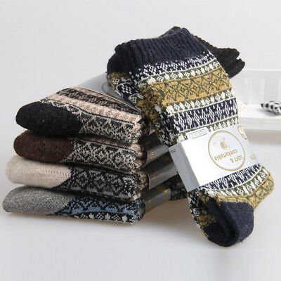 5 Pairs New Mens Socks Wool Cashmere & Comfortable & Warm Winter Thick Cost