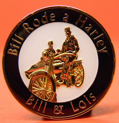 Alcoholics Anonymous- Medallion - Bill W - Lois - Rode A Harley