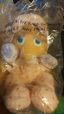 "1984 Hasbro Softies Baby Miss Piggy Stuffed 9"" Plush Toy Doll NEW in package"