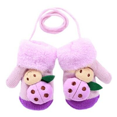 (Purple) - 1 Pair Kids' Winter Glove Knitted Mittens(1-3 Years). Blancho