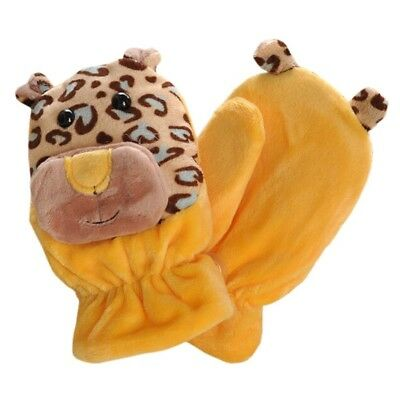 (yellow/brown) - Kids' Winter Glove Villus Mittens Haling Hands(0-3 Years),1