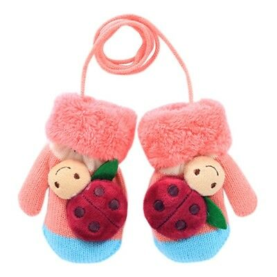 (pink/blue) - 1 Pair Kids' Winter Glove Knitted Mittens(1-3 Years). Blancho