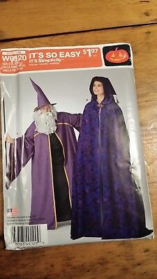 Simplicity Wizard Cape Cosplay Pattern W0120 Size Xs-Xl Uncut Free Shipping