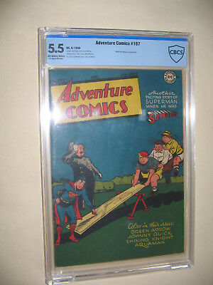 Adventure Comics 107 Cbcs Graded 5.5