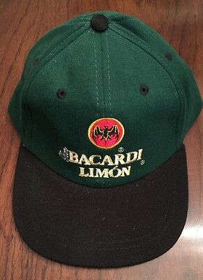 BACARDI LIMON - Bat logo - Ball Cap Hat - Adjust in back - Revolutionary Citrus