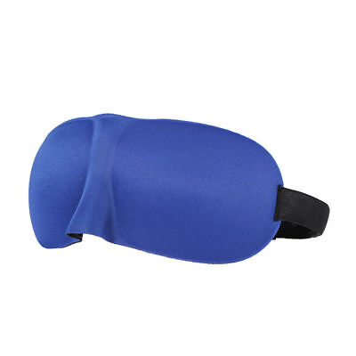 Eye Mask Padded Shade Cover Winker Patches Silk Blinder Sleeping Aid Blue  S1