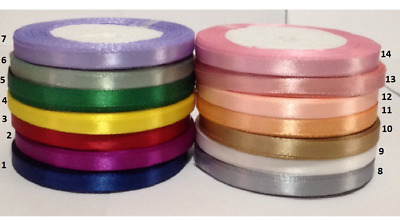 5 meter of satin ribbon single sided 6 mm for craft wrapping card making