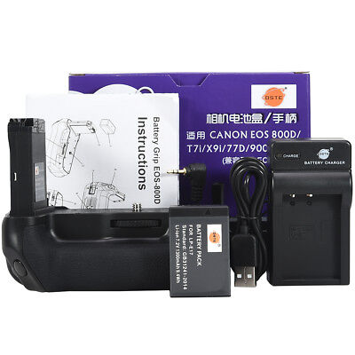 DSTE EOS 800D Battery Grip with LP-E17 with USB Charger for Canon 800D 9000D