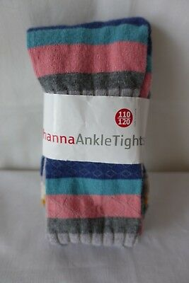 NWT HANNA ANDERSSON Ankle Tights Multi Color Striped Tight Girls 110/120 5-6 NEW