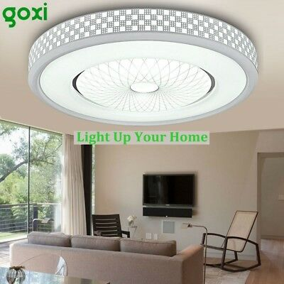 GOXI 1200LM LED Ceiling Light Round Flush Mount Fixture Lamp Bedroom Lighting US