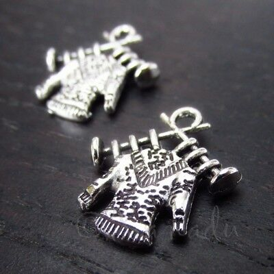 High Heeled Boots Antiqued Silver Plated Shoe Charms C3681-10 20 Or 50PCs