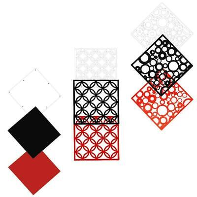 Set of 4Pcs Wall Hanging Screen Partition Room Divider Wall Stickers Decals