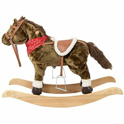 Rocking Toy Animal Horse Rocker Ride-on Toy W/ Realistic Sounds Head And Tail By