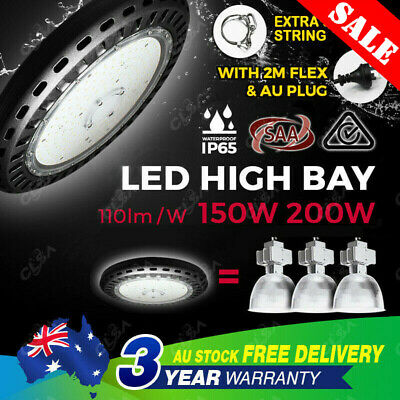 UFO LED High Bay Lights150W 200W Warehouse Industrial Factory Light Lamp Highbay