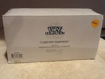Dept. 56 New England Village - Lobster Trappers - #56589 -  Mint in Box