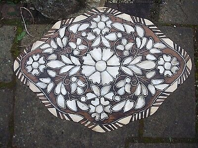 Stunning Antique  Anglo/indian Inlaid  Tripod Wooden  Side Table