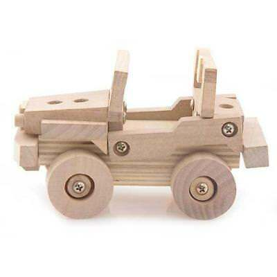 Natural Wood DIY Assembly 3D Puzzles Model - Customize Your Own Jeep Car