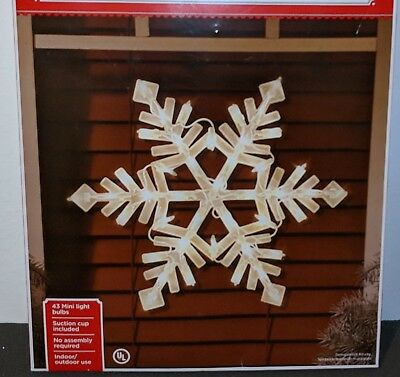 NEW Nativity Christmas Snowflake Outdoor Wall Lighted Yard Lawn Decoration Set