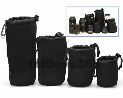 Matin Neoprene waterproof Soft Camera Lens Pouch bag Case Size- S M L XL Uy