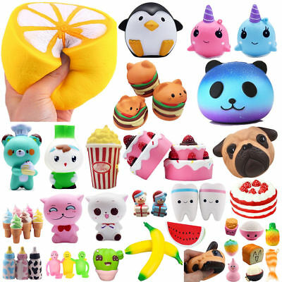 US Jumbo Squishy Squeeze Super Soft Slow Rising Toy Pressure Relief Kids Toys