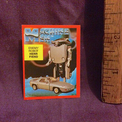1980s GO BOTS MACHINE MEN HERR FIEND AUSSIE HANIMEX CAMERA CEREAL STICKER NM!