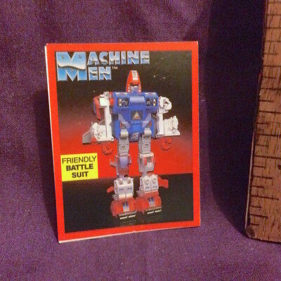 1980s GO BOTS MACHINE MEN BATTLE SUIT AUSSIE HANIMEX CAMERA CEREAL STICKER NM!