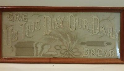 Vintage Sewing Sampler, Give Us This Day Our Daily Bread
