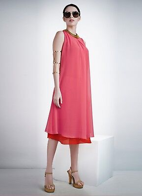 Indian Georgette Party Wear Round Neck Pink Color Calf Length Kurti