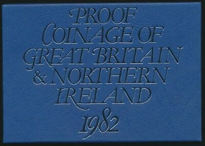 Great Britain 1982 & Northern Ireland Royal Mint 7 Coin Proof Set