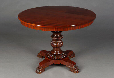 Original Late Biedermeier Mahogany Table UM 19. Century