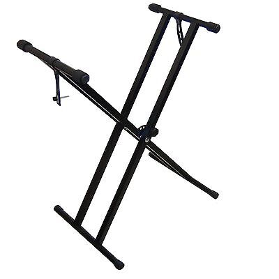 Support Stand Clavier Dual Tube DynaSun MKX2 pour Piano Synthétiseur Workstation