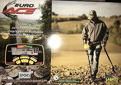 Brand New Garrett EuroACE Metal detector fully boxed with accessories.