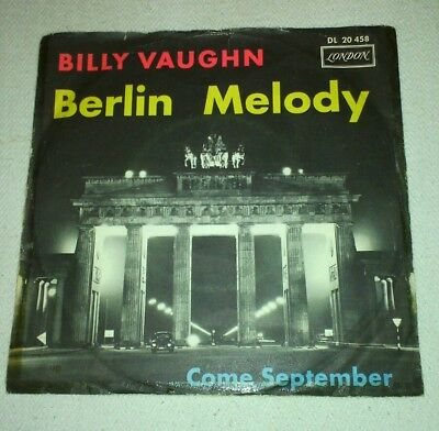 Single 7 inch-BILLY VAUGHN-Berlin Melody-im original- Cover