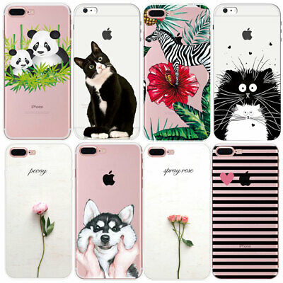 New Pattern Thin Clear Soft Silicone Phone Case Cover For iPhone 6 6S 7 8 PLUS 5