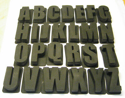 LETTER + NUMBER SET Silicone Mould Bakeware Cake Chocolate Alphabet GSP