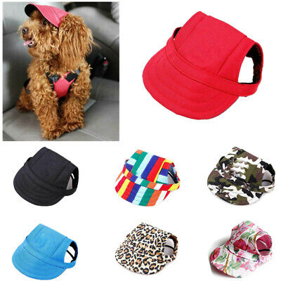 Pet Dog Puppy Summer Baseball Hat Sun Caps Cat Sunbonnet Canvas Outdoor Topee