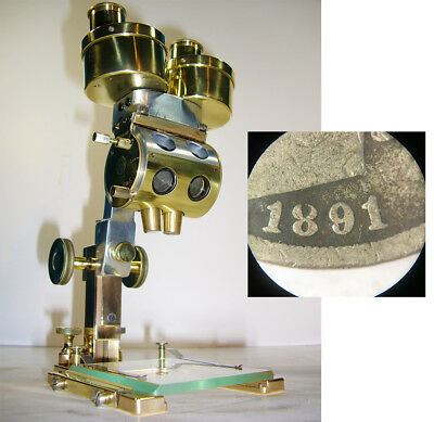 INCREDIBLE Antique Stereoscopic Dissecting MICROSCOPE Bausch & Lomb VINTAGE