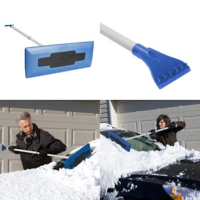 Snow Broom with Ice Scraper Winter Telescoping Brush Car Frost Removal Tool, NEW