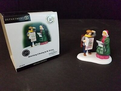 DICKENS VILLAGE Dept 56 ADVERTISING A READING BY MR DICKENS #53154 SPECIAL ED.
