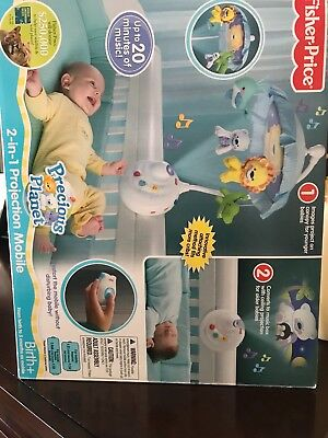 Fisher-Price Precious Planet 2-in-1 Projection Mobile, Baby Crib Music - Used