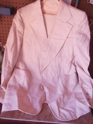 Men's Leisure 3 Pc Leisure Suit From The Late 70's Or Early 80's Sz 46 Cream