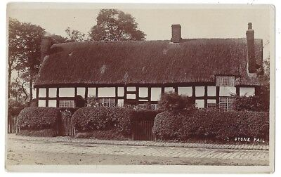 Thatched Timber Framed House named 'Stone Pail' RP Postcard, Unused